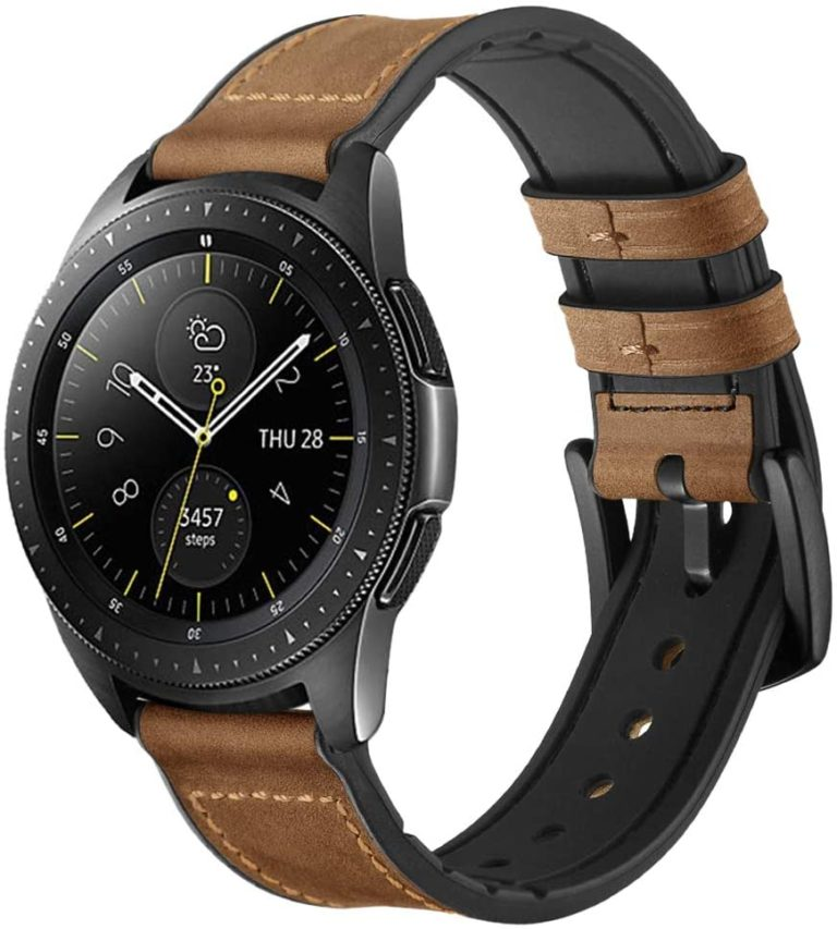 samsung galaxy watch hybrid leather and silicon band